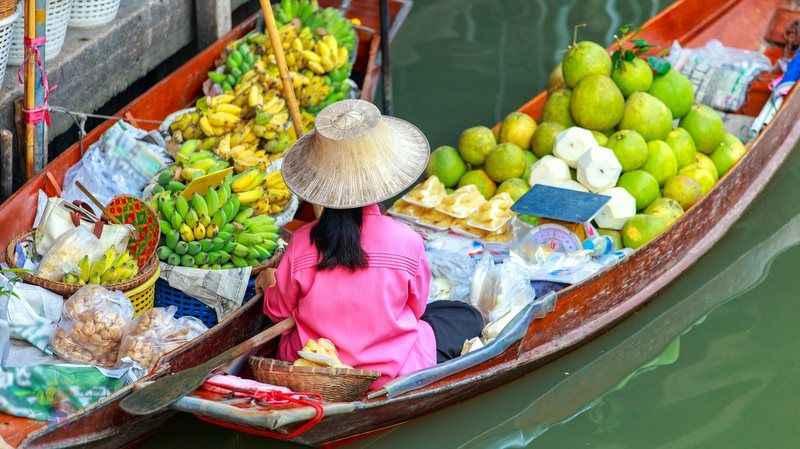 Tayland Harika Bir Yüzen Pazar Turu